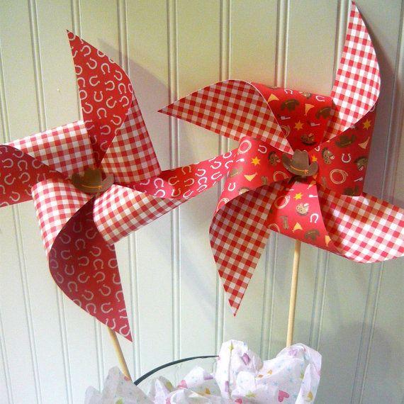 cowboy pinwheels - can not actually use as it is DIY digital file