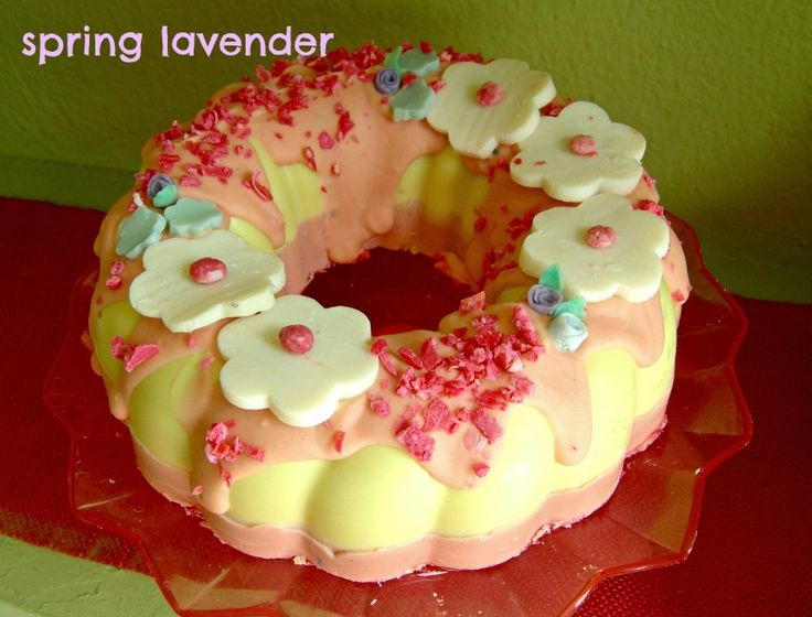 my new fragrant soap cake!