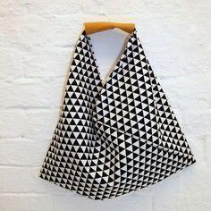 Die Origami-Bag: 30 Minuten Tasche für Anfänger. Version aus 1 Stück Stoff