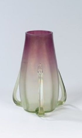 Jutta Sika (Austrian, 1877–1964)     Vase , 1901      glass