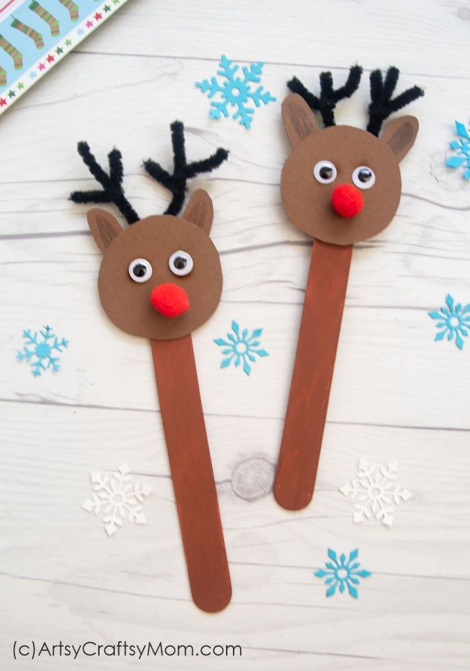 Popsicle Stick Reindeer Craft Easy Craft Ideas For Kids
