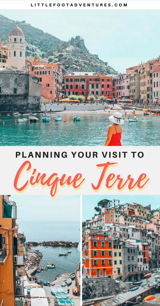 Visiting Cinque Terre was a dream! The beautiful landscape of this region in Italy is an inspiration with the colourful houses on the cliffs facing the sea.  Plan your visit to Cinque Terre, Italy with my tips! Read more at:  www.littlefootadventures.com   Cinque Terre | Italy | Europe  #CinqueTerre #Italy #Planning #Tips #Guide #Plan #Visit