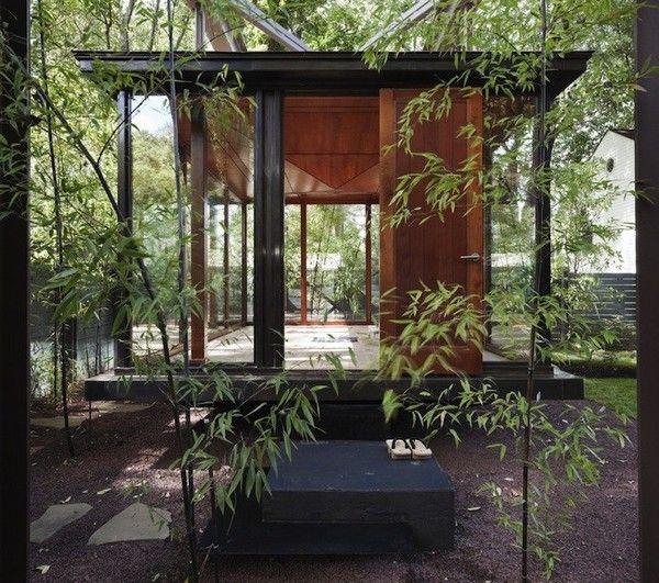 Meditation room shaped like a Japanese lantern. Ohmmmmm