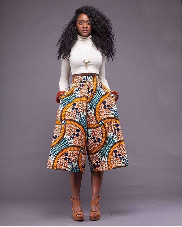 African Print Fashion: Ankara Trouser With White Crop Top