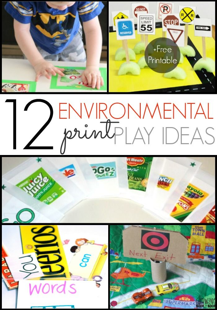 Ideas for Using Environmental Print to develop emergent literacy skills in your preschool, pre-k, or kindergarten kids. Perfect for at home or in the classroom. - Pre-K Pages