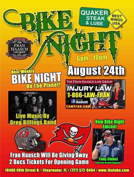 Greg Billings tonight!<br /> Fran is giving away 2 Buccaneers tickets!