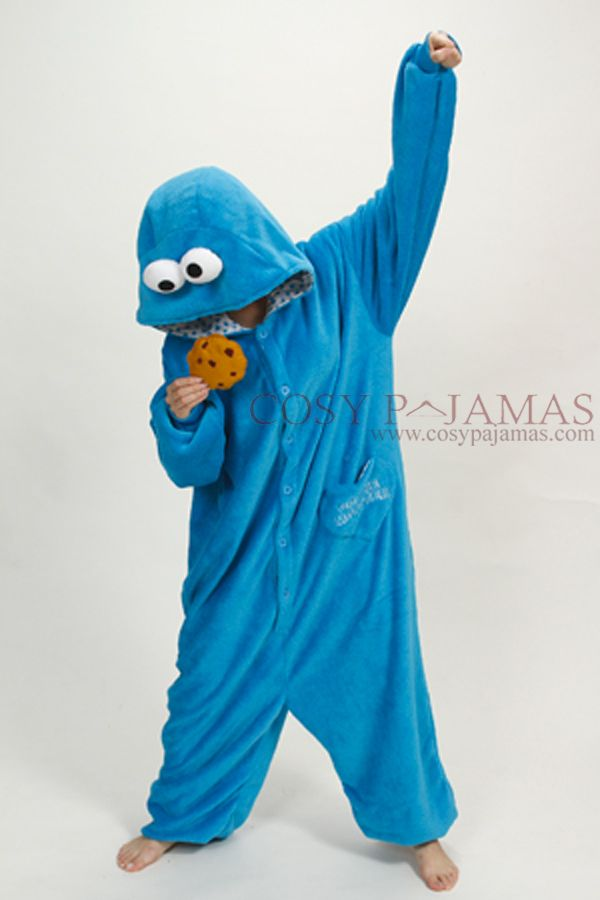 Sesame Street Cookie Monster Onesie Kigurumi Pajamas
