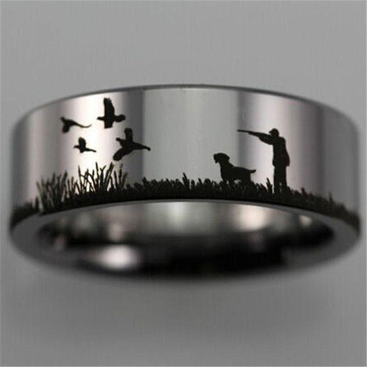 Pheasant Hunting Scene Ring