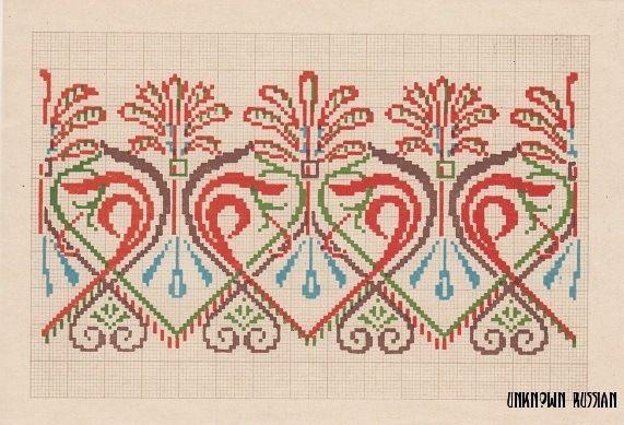 (17) Gallery.ru / Фото #6 - Узоры для вышивания, 1950 г., Декалькомания - unknown-russian