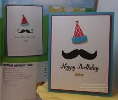 stampin up mustache card - Google Search