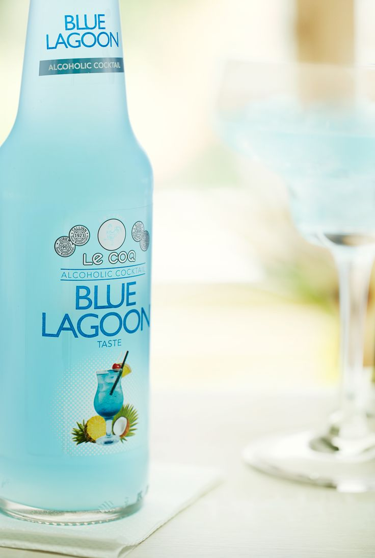 Blue Lagoon, ice cold drink. Beverage photo.