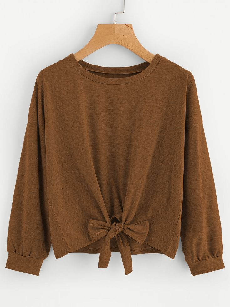 Shop Bow Tie Front Drop Shoulder Sweatshirt online. SheIn offers Bow Tie Front Drop Shoulder Sweatshirt & more to fit your fashionable needs.