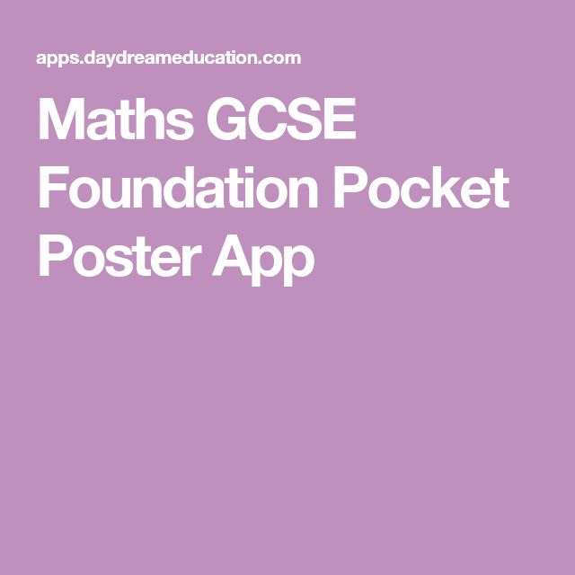 Maths GCSE Foundation Pocket Poster App