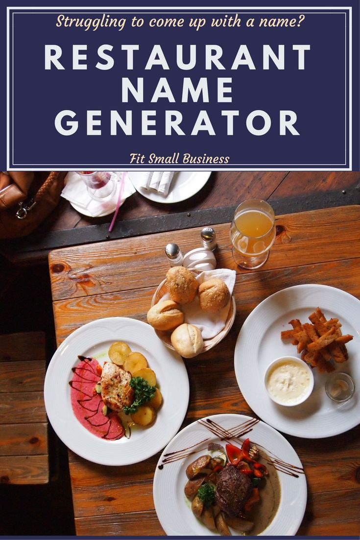 Struggling to come up with catchy restaurant name ideas? With the help of this generator, you'll have a creative and unique name in no time! Click the picture to find out more!