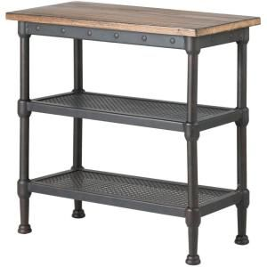 Home Decorators Collection Gentry Distressed Oak End Table-9492500810 - The Home Depot