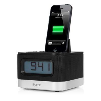 iHome iPL10 Lightning Dock Dual Charging Stereo FM Clock Radio med laddning/uppspelning via USB - Apple Store (Sverige)