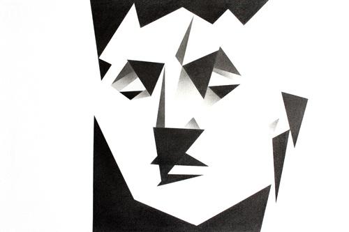 Retrato. Carboncillo / Portrait. Charcoal    32 x 23 cm