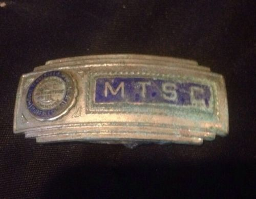 Pre 1965 Middle Tennessee State University Mtsu Mtsc Buckle | #522662652
