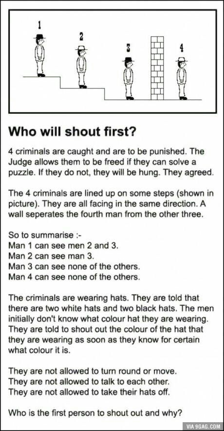 #2, because if they had a black hat, then #1 would've said white