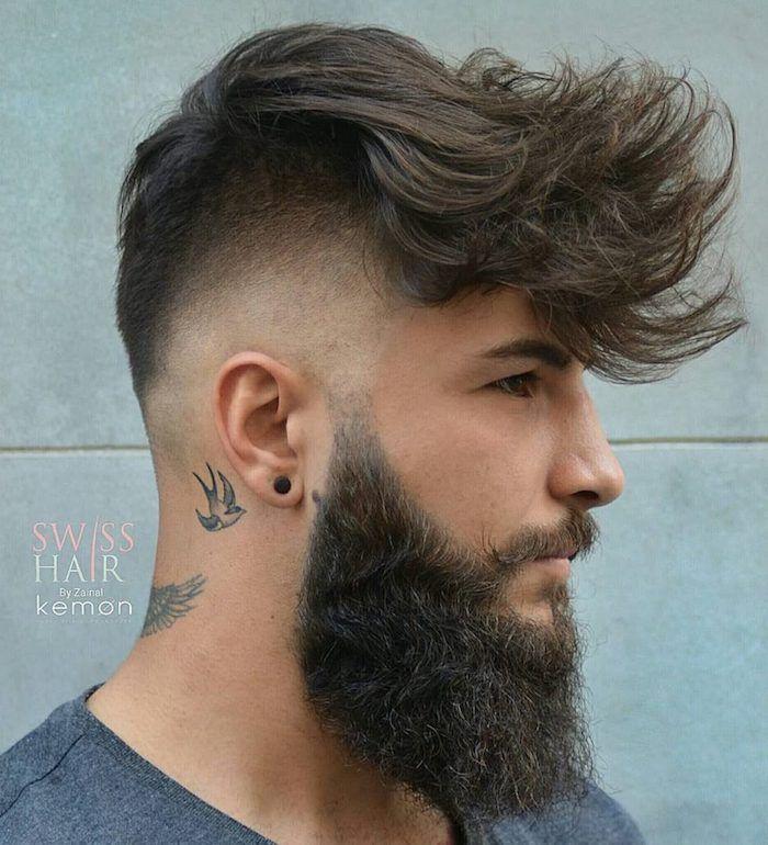 Lange haare schnitt mann