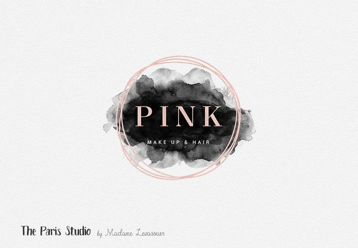 Geometric Pink Gold Foil Watercolor Logo Design for stylist and makeup artist, photography branding, restaurant logo, boutique branding, e-commerce website logo, blog logo, creative business branding or small business logo.
