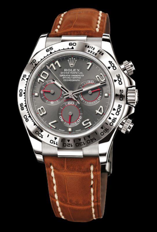 Rolex Cosmograph Daytona. White gold. Slate dial. http://www.originalwatchstore.com/brand/rolex/