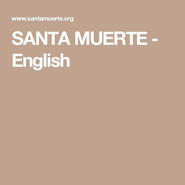SANTA MUERTE - English