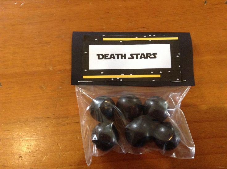 Death stars - large chocolate balls made by Darrell Lea Chocolates.