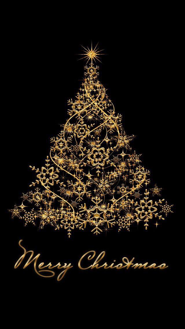 gold christmas tree wallpaper - photo #3