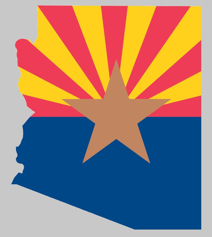 ARIZONA SHAPED ARIZONA FLAG