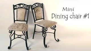 Miniature Dining Chair Tutorial SugarCharmShop - YouTube
