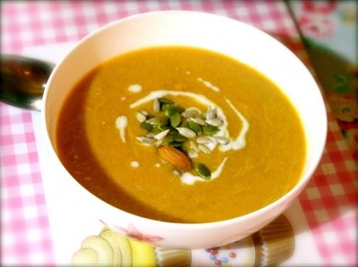 Lemony, Carrot, Ginger & Coconut Soup: Detox Day 1