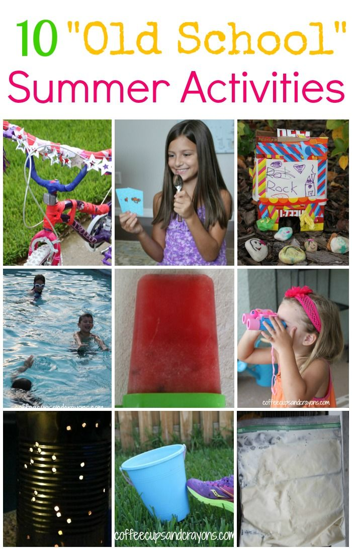 Go old school this summer with some simple and fun activities from when we were little!