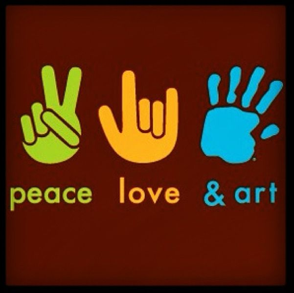 Peace Love Art ✌❤