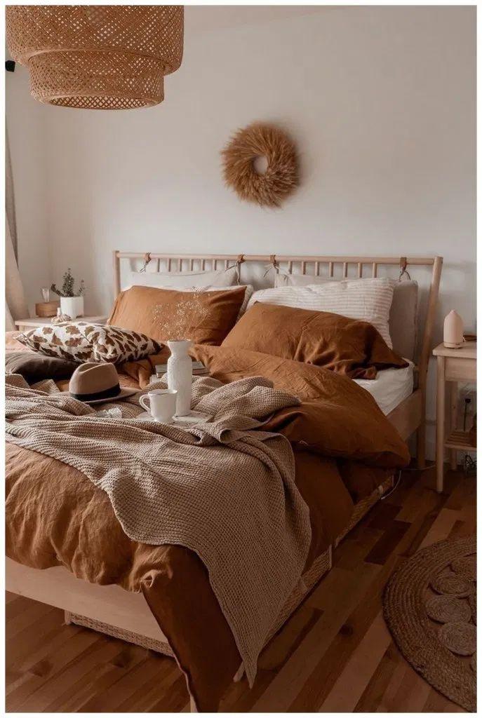 Rusty Burnt Orange Bedroom Decor Inspo Bedroom Interior Bedroom Inspirations Bedroom Decor Cozy