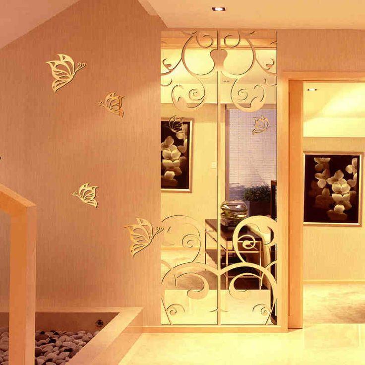 Специальный вход спальня мерное акриловое зеркало зеркало наклейки для стен, прикрепленные к лету Splendor гостиной телевизор фоне-tmall.com ...