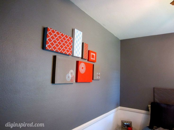 Shoe Box Lid Wall Art. Cover using fabric or scrapbook paper. Great reuse for canvases looking art