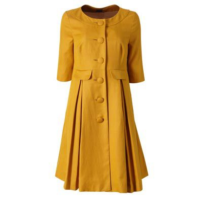 Orla Kiely dress.- so cute! But just not yellow