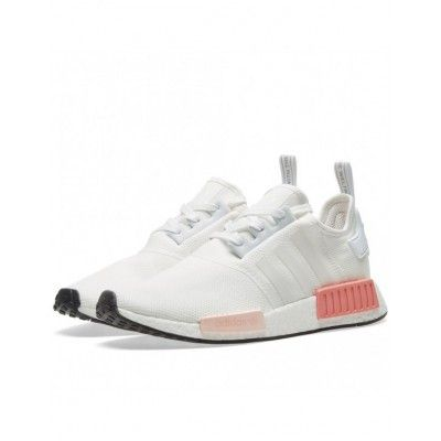 new style bd83e 4857a Adidas NMD R1 Runner Boost White Icey Pink Women's BY9952 ...