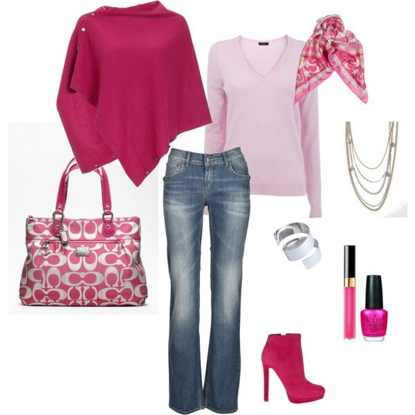 So cute!: Fashion, Coach Purse, Dream Closet, Clothing, Pink Outfits, Pink Outfit Loooove