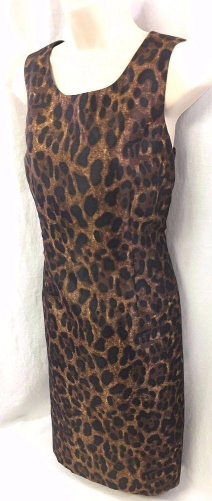 Le Suit Ladies Dress Size 10 Black Amber Brown Safari Nights Cocktail Versatile #LeSuit #Cocktail