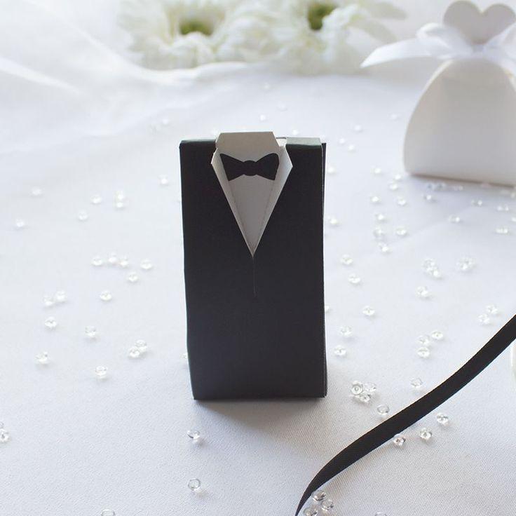 Gastgeschenk Mandelbox Bräutigam mit 5 Hochzeitsmandeln