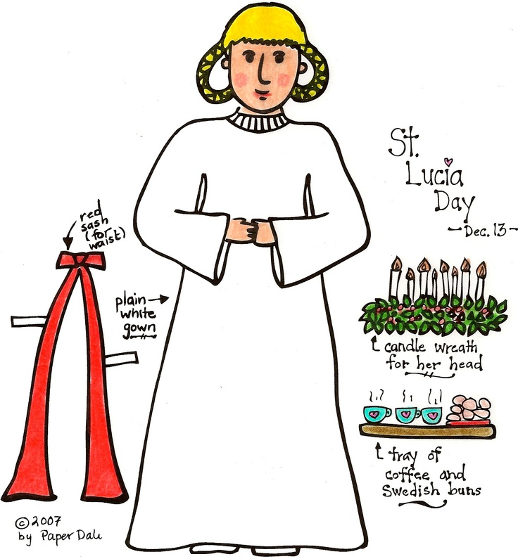 st lucias day coloring pages - photo#12