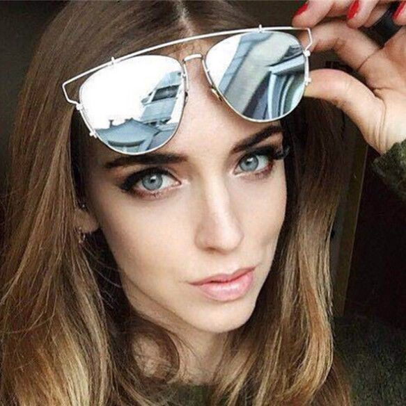 "Teketkom - Buy ""new summer style sun glasses reflective metal frame brand designer sunglasses women Retro vintage sunglass oculos de sol"" for only 4.99 USD."