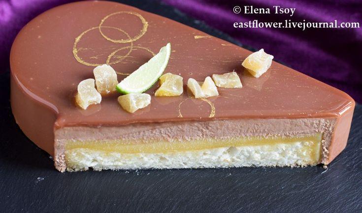 Торт имбирь-лайм-ананас