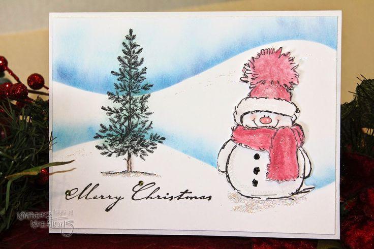 Kimberz Kreations: Penny Black Snowman Cards
