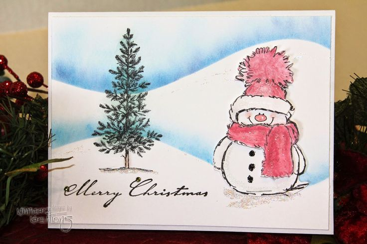 Kimberz Kreations: Penny Black Snowman Cards