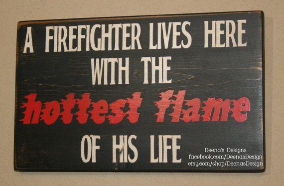 @Stephanie Close Nelson Firefighter Wife Wall Art Firefighter Decor by DeenasDesign, $22.00