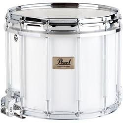 Pearl Competitor High-Tension Marching Snare Drum White 14X12 Inch High Tension by Pearl. $349.99. The Pearl Competitor Marching Snare Drum has an 8-ply mahogany shell rich in upper harmonics for enhanced presence. 2.3mm steel hoops are lightweight with great strength and durability. High-tension FFX aluminum alloy edge ring allows super-high-pitched Kevlar heads to be installed. Lever action strainer operates smoothly and positively. Micro-fine adjustment of ...