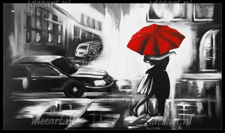 Schilderij zwart wit 6069